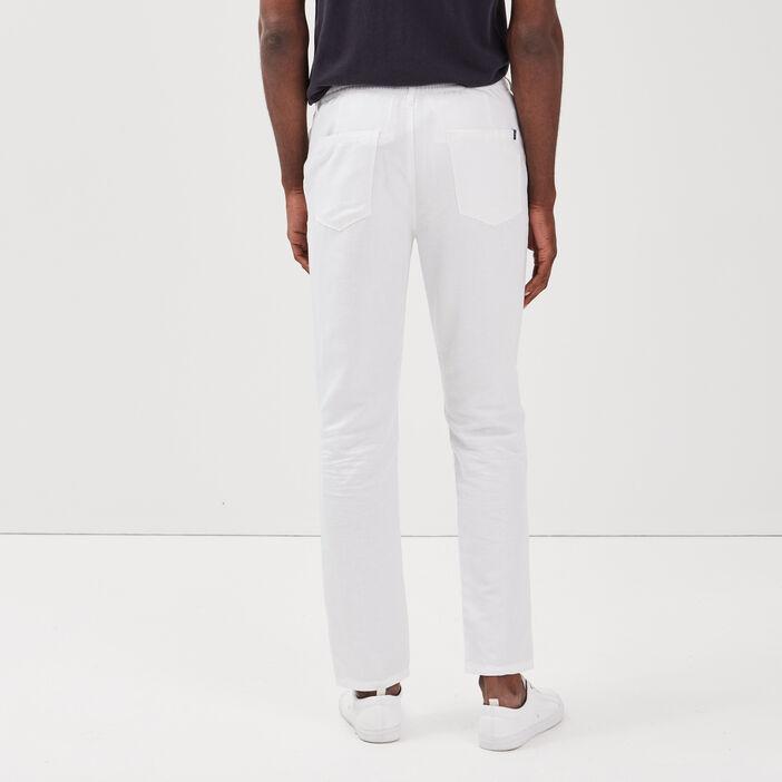 Pantalon éco-responsable blanc homme