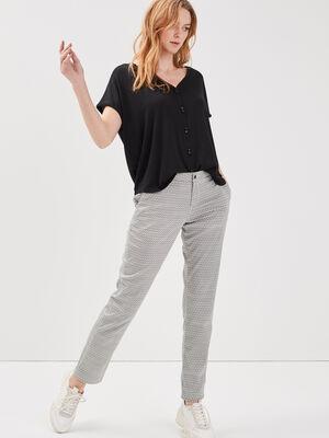 Pantalon chino Instinct ecru femme