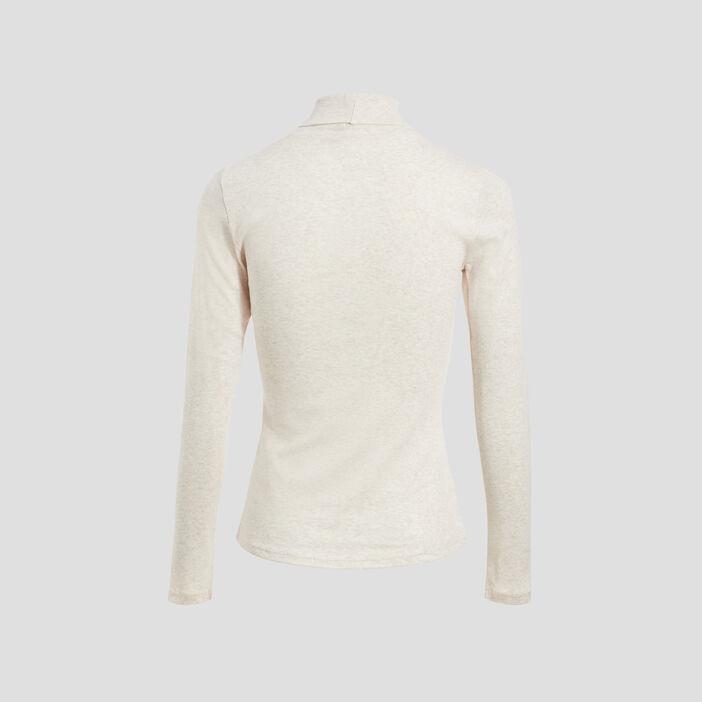 T-shirt manches longues beige femme