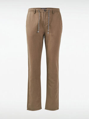 Pantalon eco responsable vert kaki homme