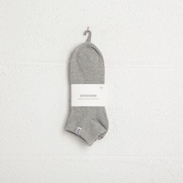 Lot 3 paires chaussettes gris homme