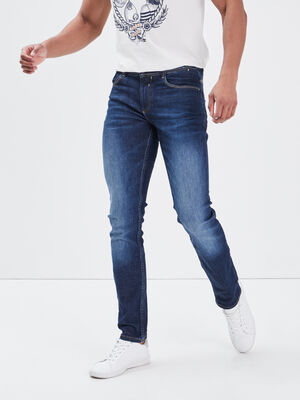 Jeans slim eco responsable denim brut homme