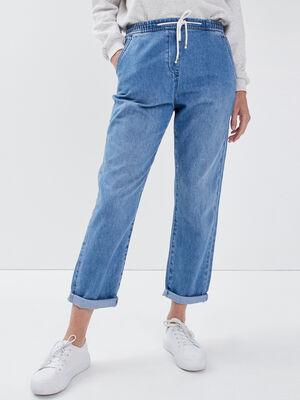 Jeans jogger eco responsable denim stone femme