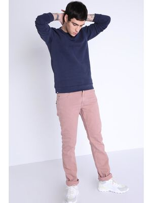 Pantalon teinte par produits naturels vieux rose homme
