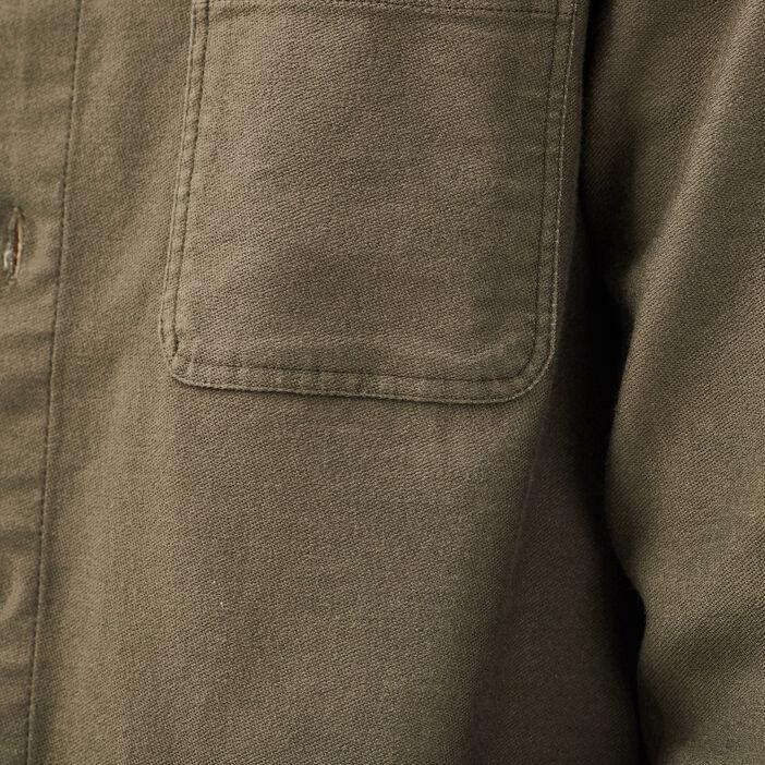 Surchemise manches longues vert kaki homme