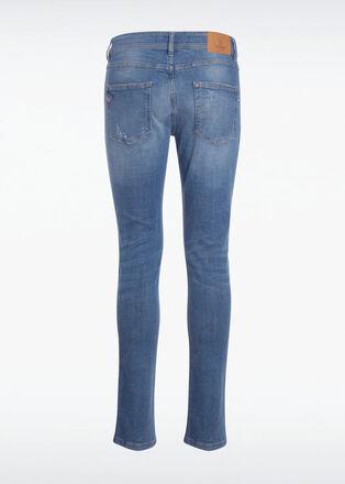 Jeans slim effet used denim used homme