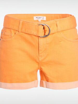 Short orange femme