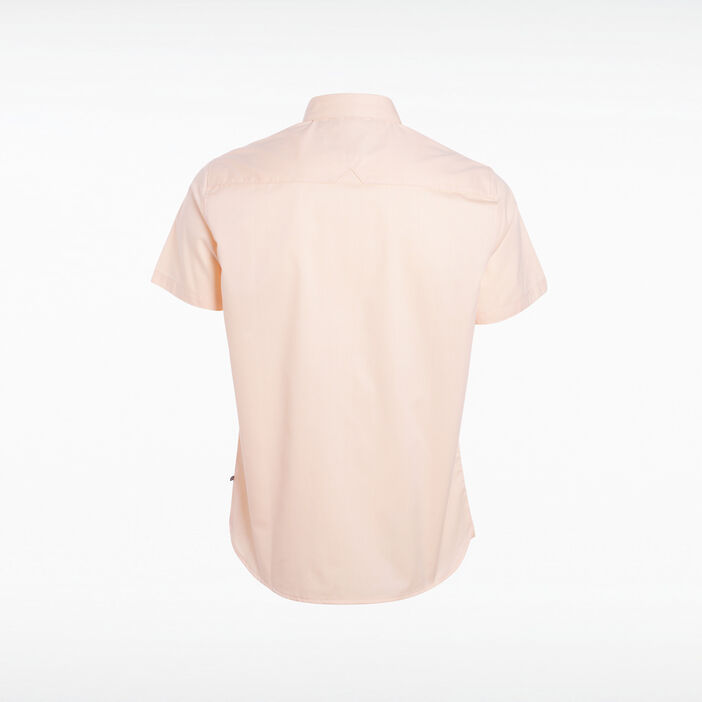 Chemise manches courtes rose saumon homme