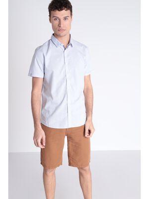 Chemise manches courtes bleu clair homme