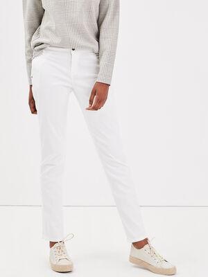 Pantalon chino Instinct blanc femme