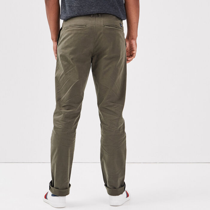 Pantalon straigth Instinct chino vert kaki homme