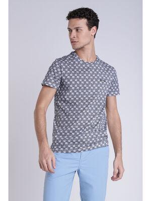 T shirt imprime blanc homme