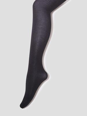 Collants coteles noir femme