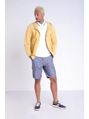 Bermuda droit poches a rabat bleu lavande homme