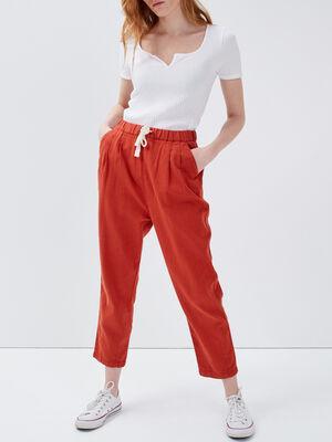 Pantalon droit 78eme vieux rose femme