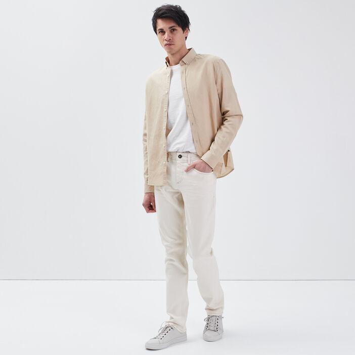 Jeans straight ecru homme