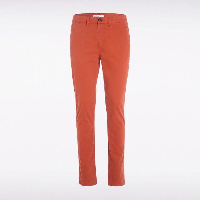 Pantalon slim Instinct chino orange foncé homme