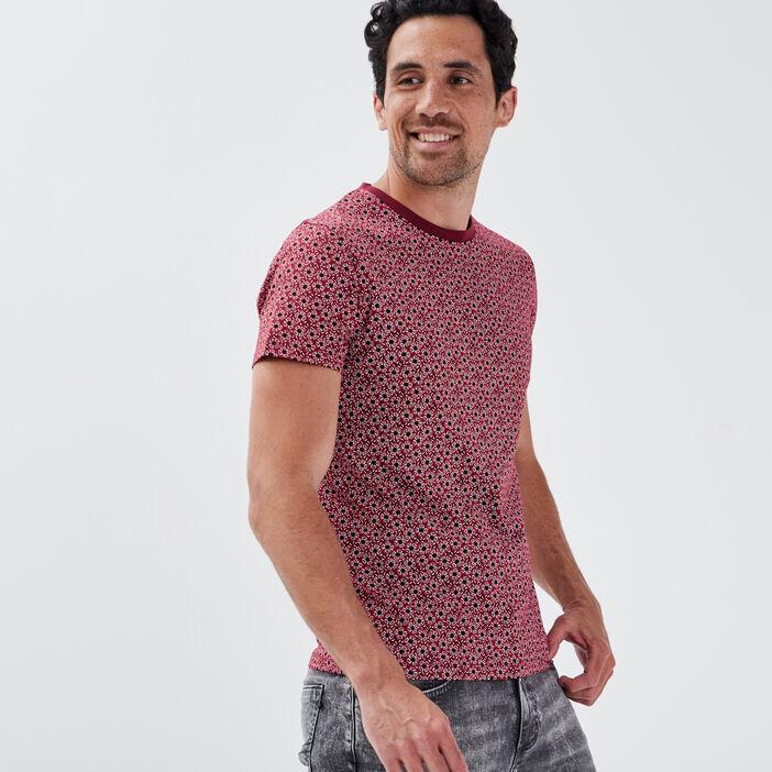 T-shirt éco-responsable bordeaux homme