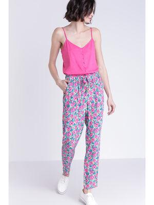 Pantalon fluide multicolore femme