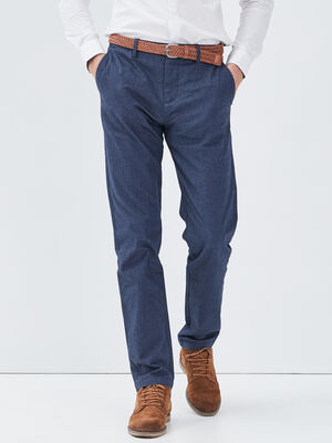 Pantalon chino ceinture bleu marine homme