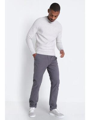Pantalon Instinct chino ajuste gris fonce homme