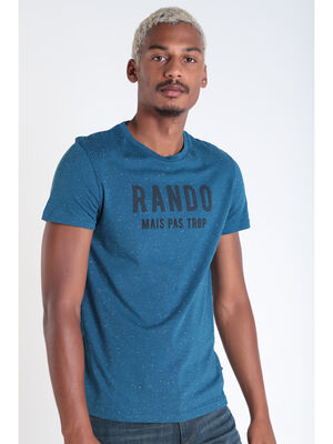 T shirt manches courtes vert turquoise homme