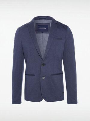 Veste blazer cintree boutonnee bleu fonce homme