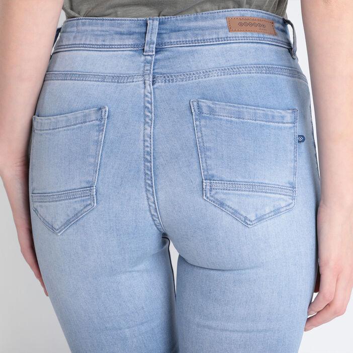 Jeans jegging skinny en coton bio denim bleach femme