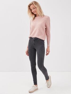 Jeans jegging skinny en coton bio gris fonce femme