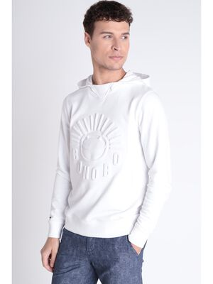 Sweat imprime blanc homme