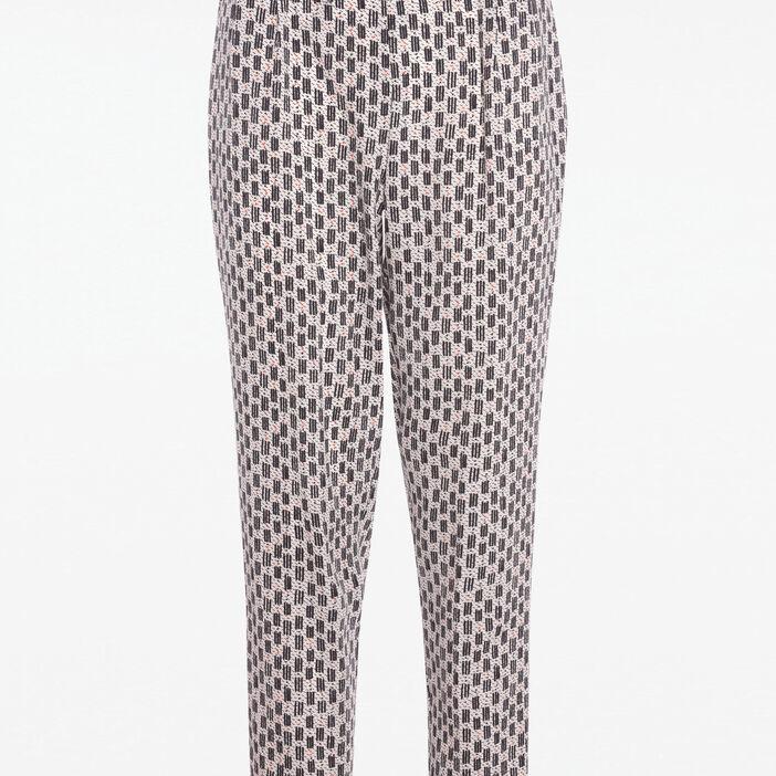 chaussures authentiques variété de dessins et de couleurs 50% de réduction Pantalon fluide motif ethnique blanc femme | Vib's