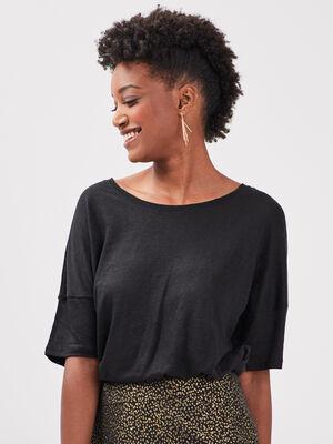T shirt eco responsable noir femme