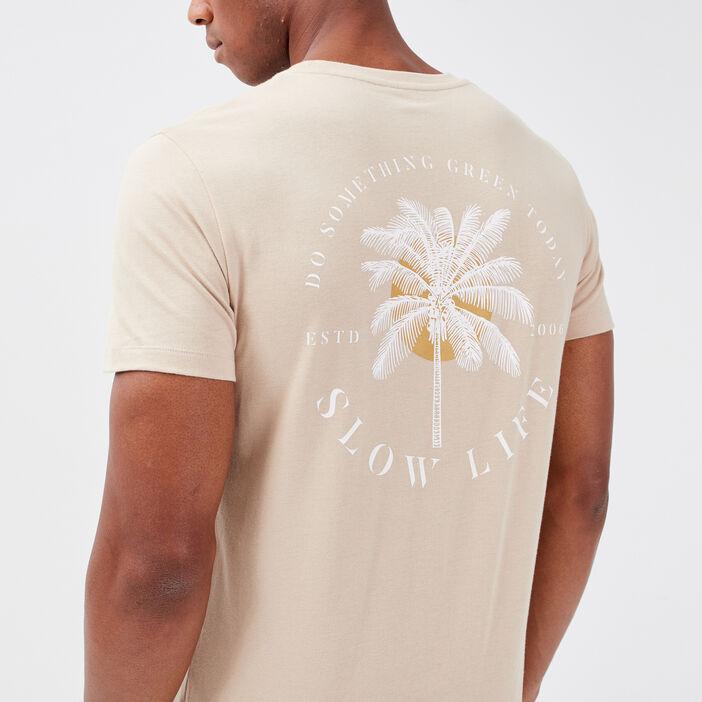 T-shirt manches courtes beige homme