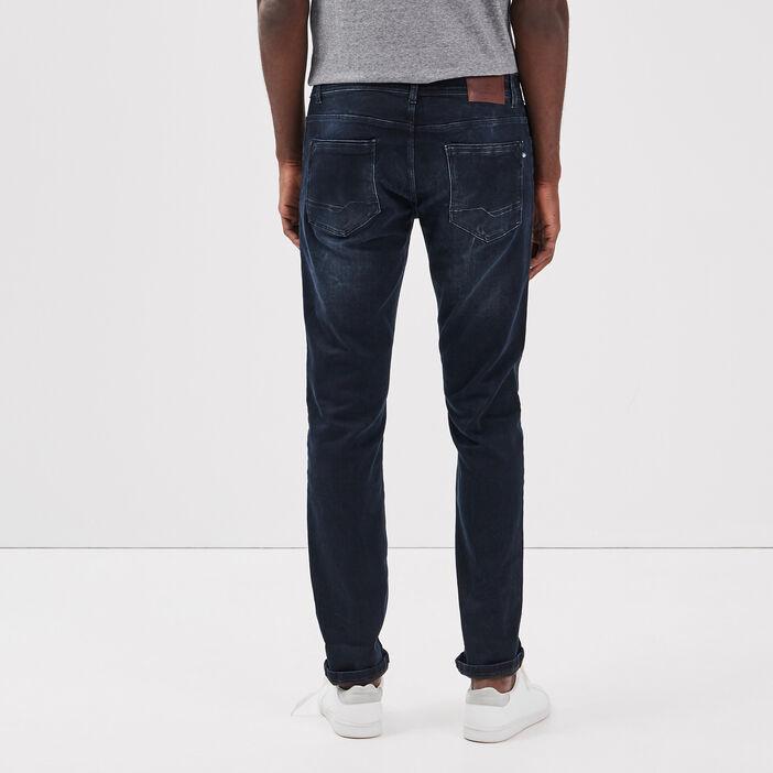 Jeans slim ultra stretch denim blue black homme