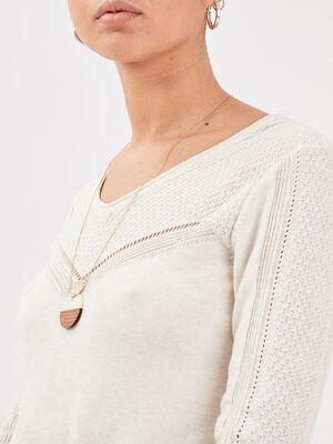 Collier pendentif rond couleur or femme