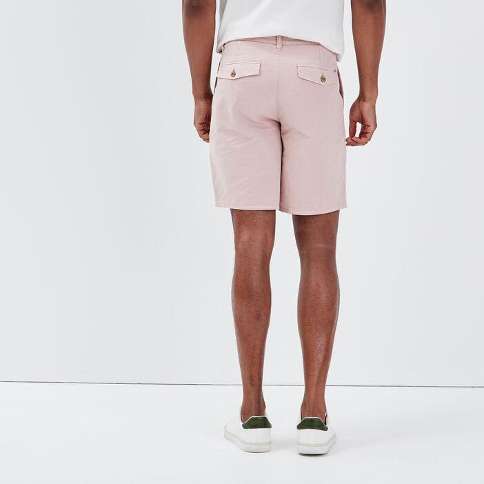 Bermuda droit en jean rose pastel homme