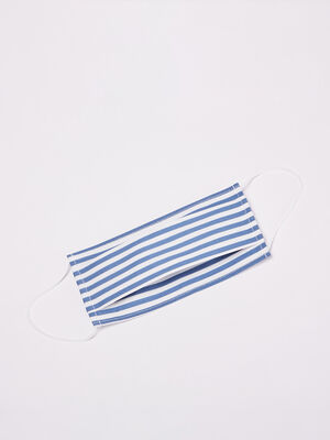 Masque de categorie 2 en tissu bleu fonce homme
