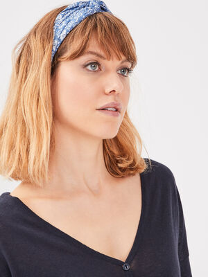 Bandeau bleu pastel femme