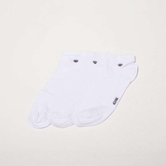 Lot 3 paires chaussettes blanc homme