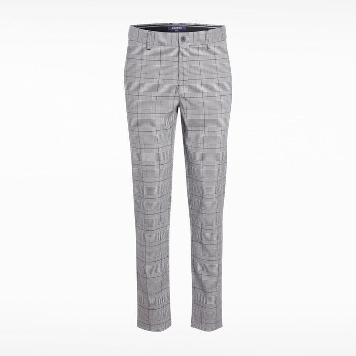 Pantalon chino prince de galles blanc homme