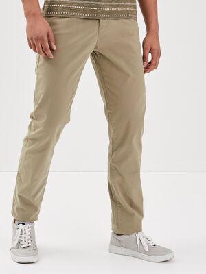 Pantalon Instinct chino vert kaki homme