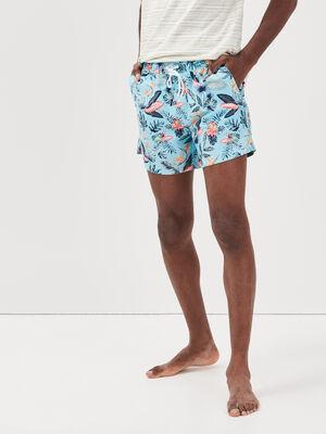 Short de bain bleu clair homme