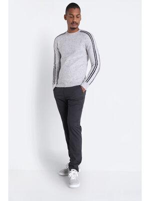 Pantalon chino 4 poches gris fonce homme
