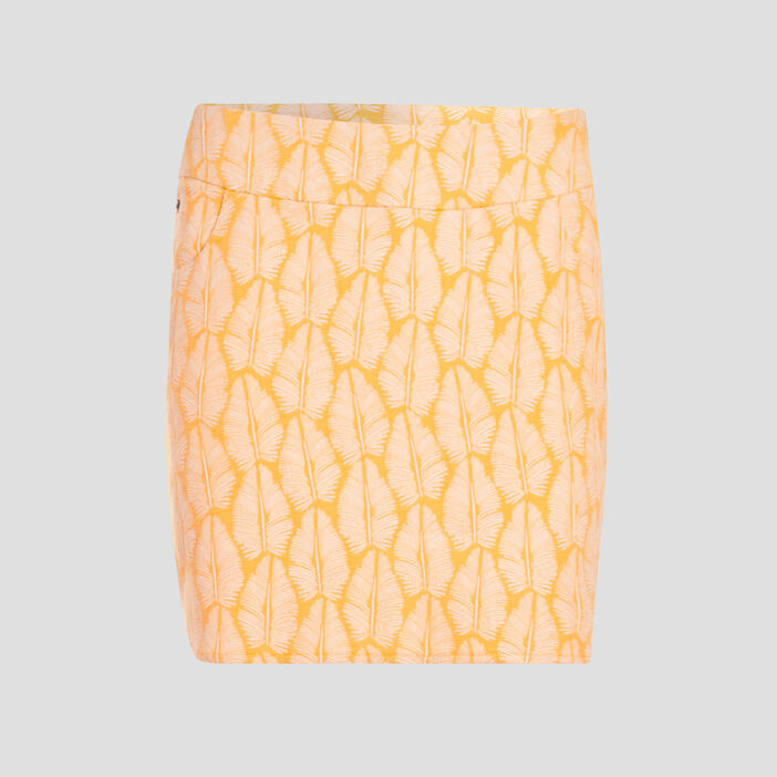 Jupe droite 2 poches jaune femme