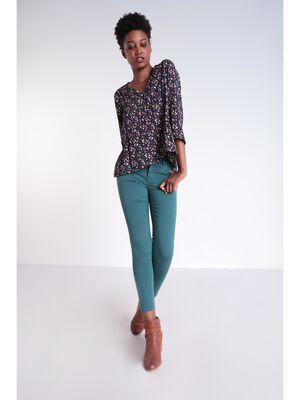 Pantalon Instinct skinny vert canard femme