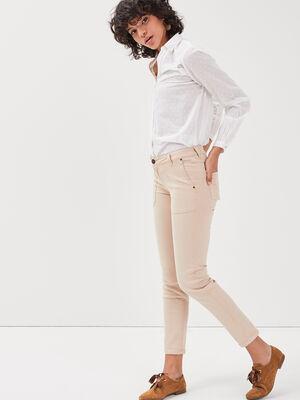 Pantalon Instinct slim beige femme