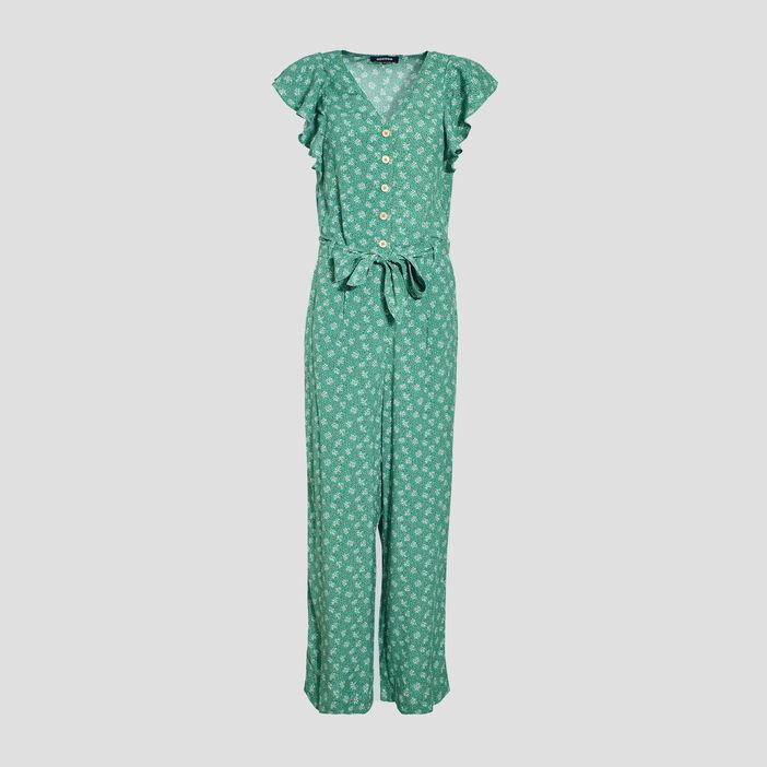 Combinaison pantalon ceinturé vert menthe femme