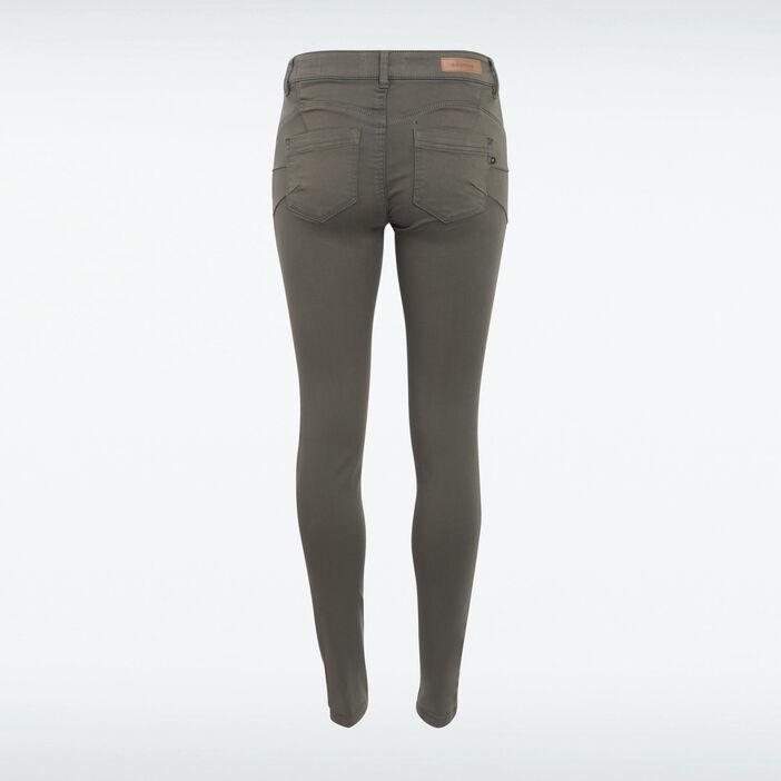 Pantalon Audrey - skinny push up vert kaki femme