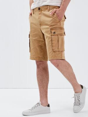 Bermuda cargo beige homme