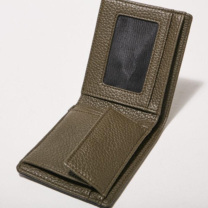 Coffret portefeuille et porte-clés vert kaki homme